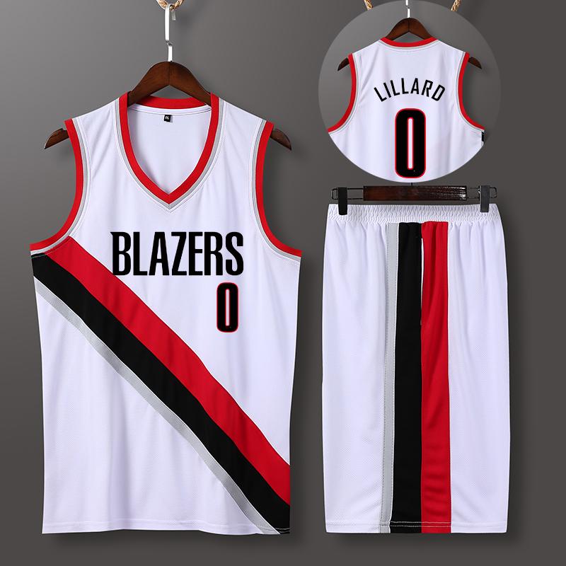 开拓者利拉德安东尼00号球衣篮球衣服套装男定制订做训练比赛队服高清大图