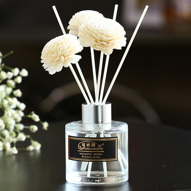 无火香薰精油瓶藤条干花家用卧室内持久熏香水厕所除臭淡香氛房间