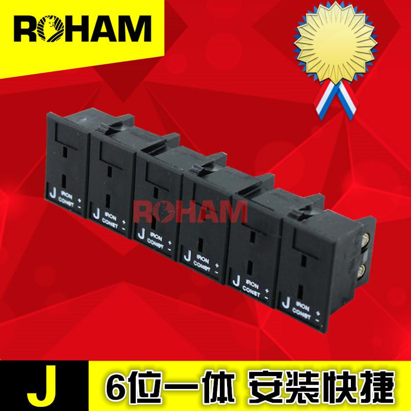 热电偶插头T/J/E/N/R/S/U/C/K型6位Ω嵌入式胶条热电偶面板母插座