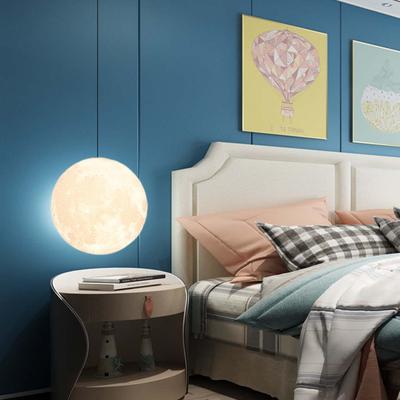 北欧月球灯星球吊灯客厅现代简约单头装饰吊灯卧室艺术餐厅灯具