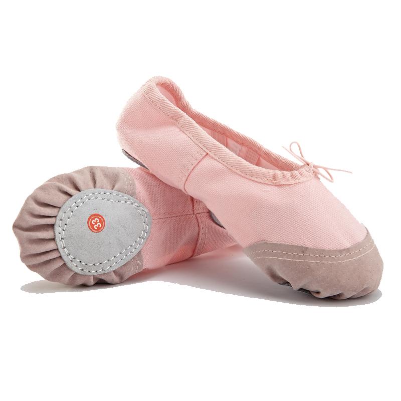 黑色皮头儿童舞蹈鞋男芭蕾舞鞋成人体操现代舞练功鞋软底瑜伽猫爪