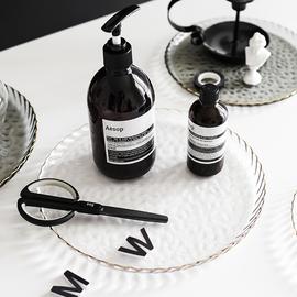 水果盘水晶玻璃盘子欧式客厅茶几家用北欧托盘创意个性时尚果盘