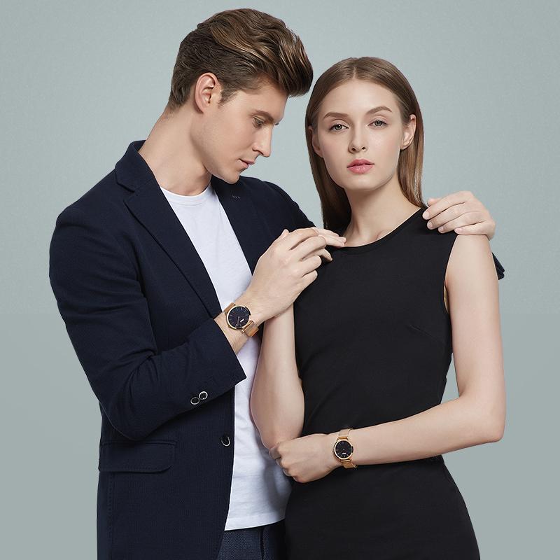 斐乐手表男女情侣表一对石英表时尚潮流大表盘钢带腕表 778 FILA
