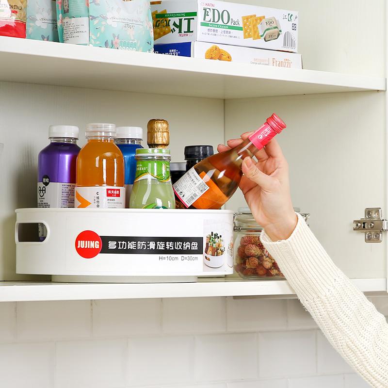 厨房置物架收纳架子台面用品家用大全可旋转式盒调料架调味品神器主图