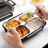 304 stainless steel partition insulated lunch box fat-reduced meal lunch box office worker student canteen meal box for 1 person