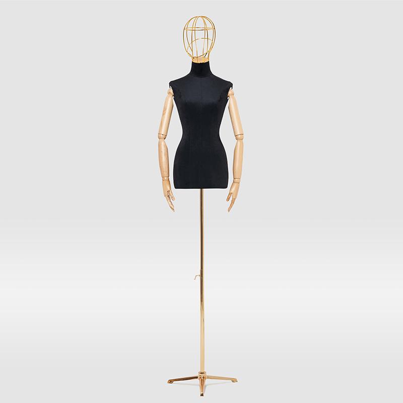 模特道具女服装店橱窗半身人台高档婚纱模特架金属楼空头女模特