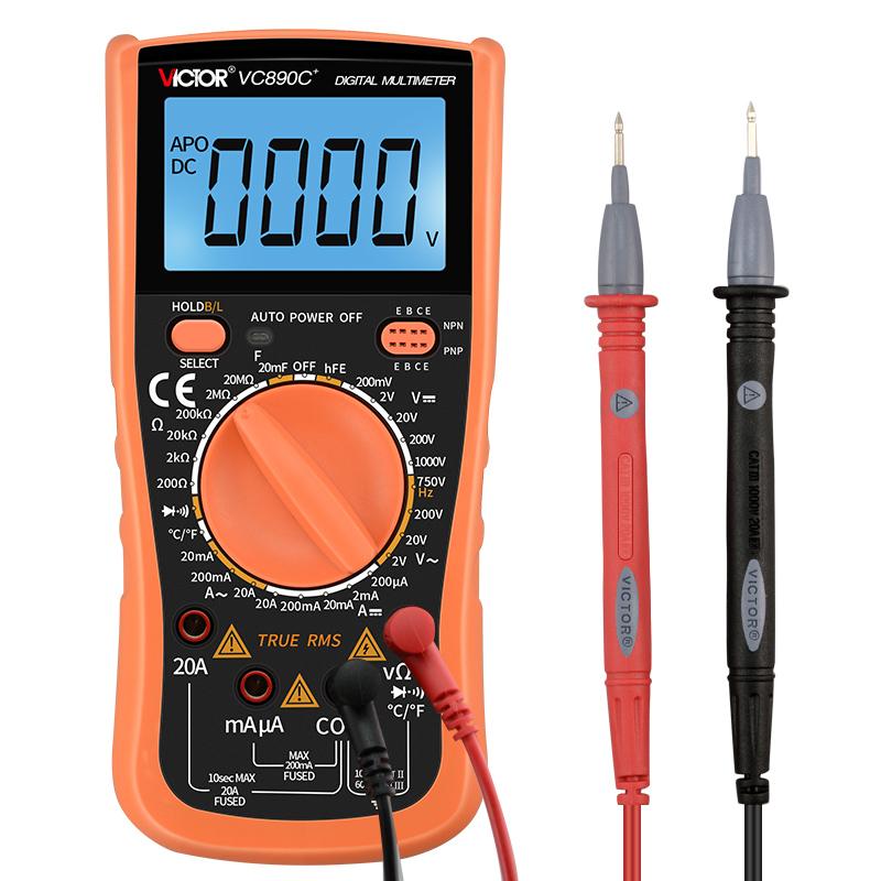 胜利万用表数字家用VC890D数显式高精度电工万能表VC890C+/VC830L