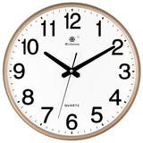 Creative personality living room wall clock watch round the clock hanging table minimalist modern household quartz clock mute electronic wall
