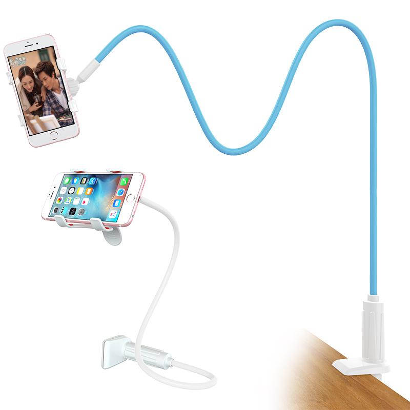 懒人手机支架 床头看电视电影桌面加长万能通用直播创意夹子宿舍床上用个性多功能支驾枝撑架女