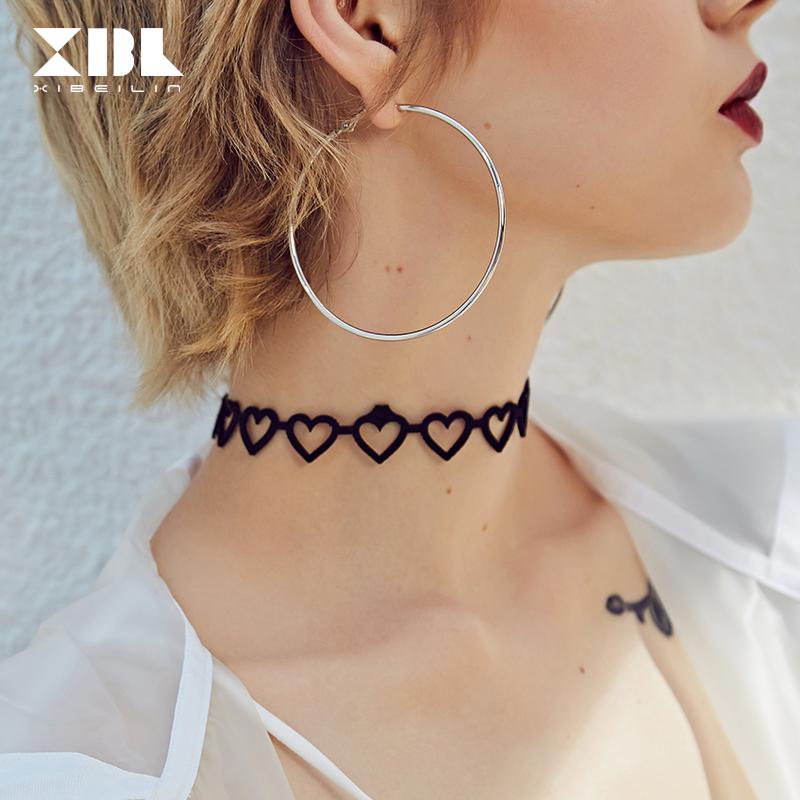 日韩版气质时尚圆圈简约几何耳环女款欧美大气个性耳坠流行耳饰品