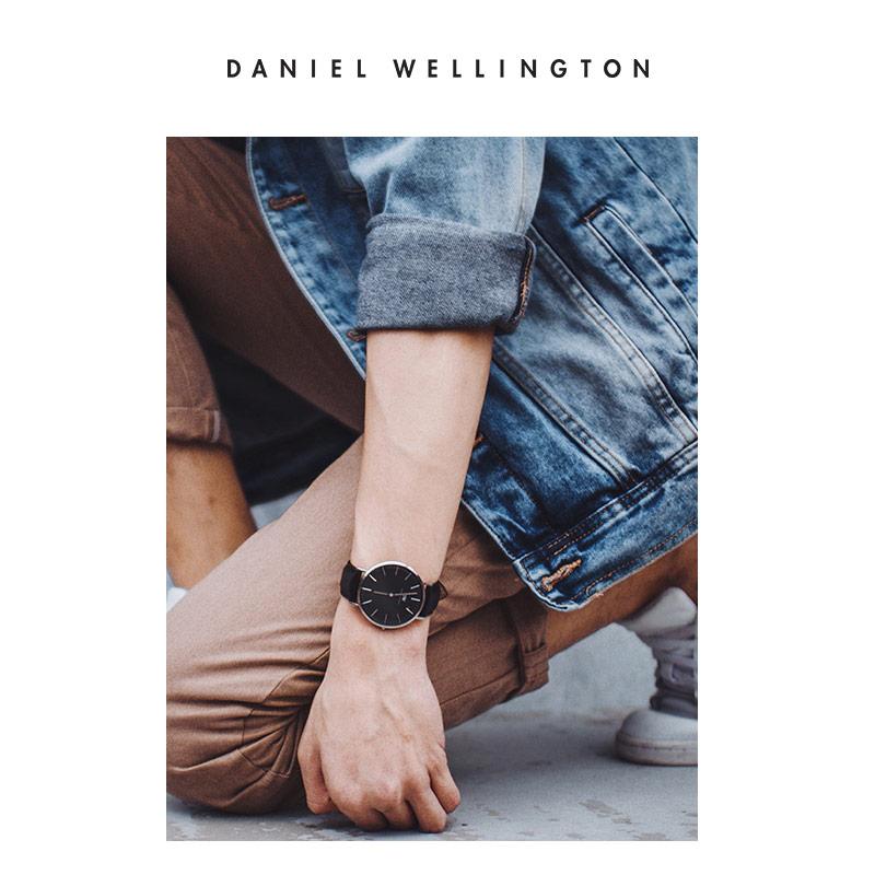 DanielWellington丹尼尔惠灵顿dw手表男40mm黑盘男士腕表石英男表