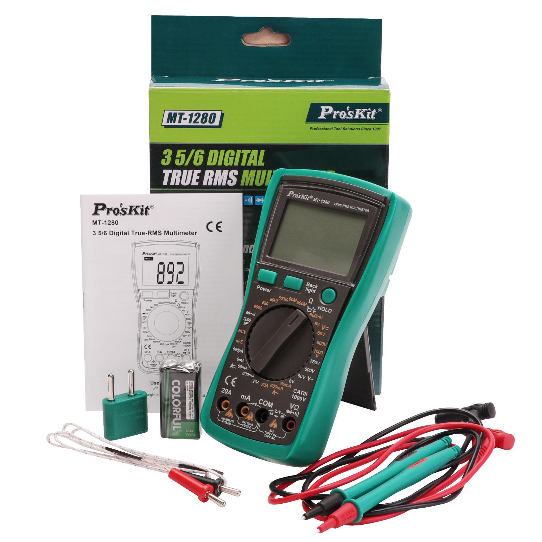 台湾宝工背光防烧数显万能表电工数字万用表高精度多用表MT-1280