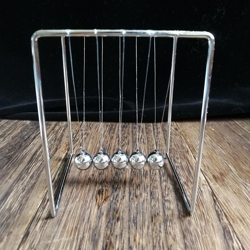 金屬動量擺球牛頓擺撞球碰碰球工藝擺件科學玩具兒童創意禮物包郵