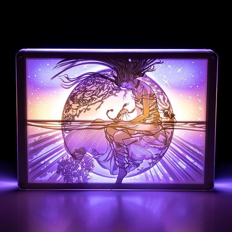 十二星座巨蟹座天蝎座天秤座光影纸雕灯小夜灯卧室台灯创意礼物