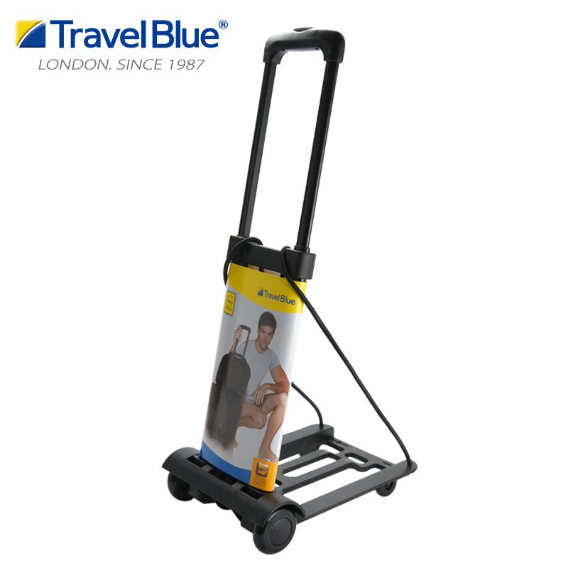 TravelBlue藍旅摺疊行李車輕便購物車小拖車機場拉桿車摺疊手拉車