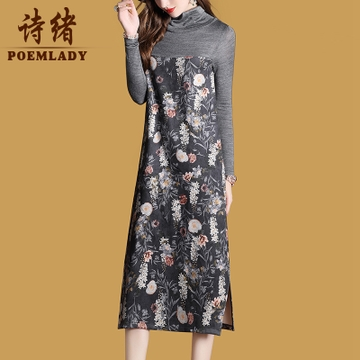 vintage style casual winter dress