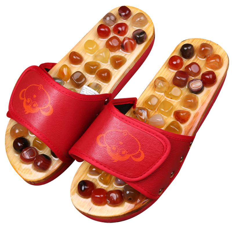 足底按摩垫家用鹅卵石超痛版雨花石健身足疗垫脚底趾压板指压拖鞋