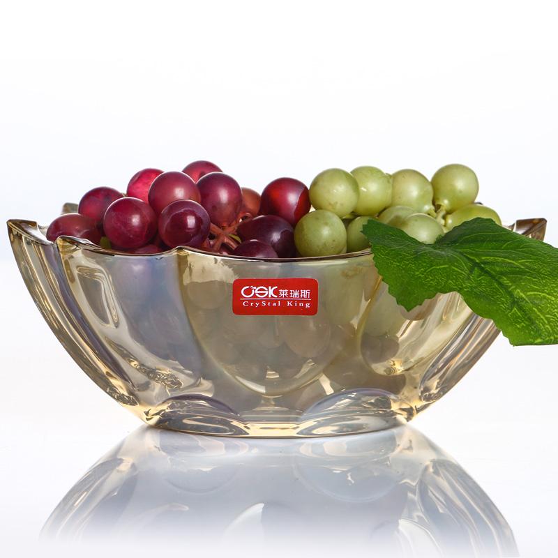 csk莱瑞斯水晶玻璃糖缸干果盒糖果瓜子果盘带盖储物罐