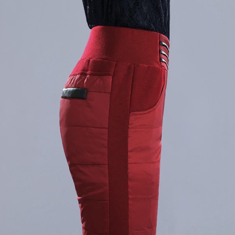 羽绒裤女外穿加厚冬季双面显瘦铅笔裤修身保暖棉裤靴裤长裤