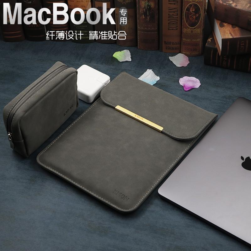 适用联想华为matebook13华硕小米14苹果笔记本air13.3寸电脑包Macbook12内胆包pro保护套15皮套11女15.6男Mac