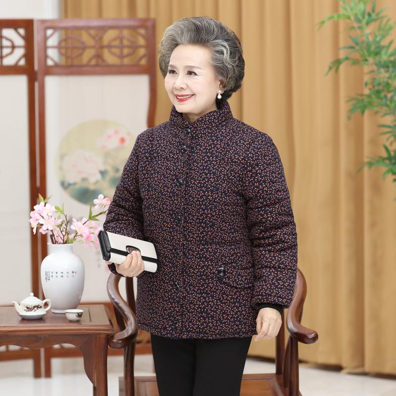 60-70岁80老年人女装冬装棉衣加厚老人奶奶装外套老太太棉袄加绒