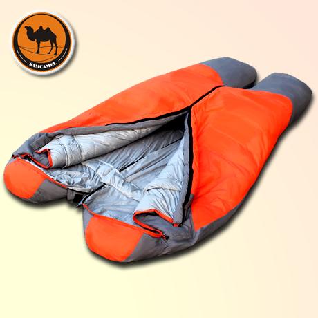 自由之舟骆驼高级羽绒睡袋户外露营大人睡袋超轻午休睡袋