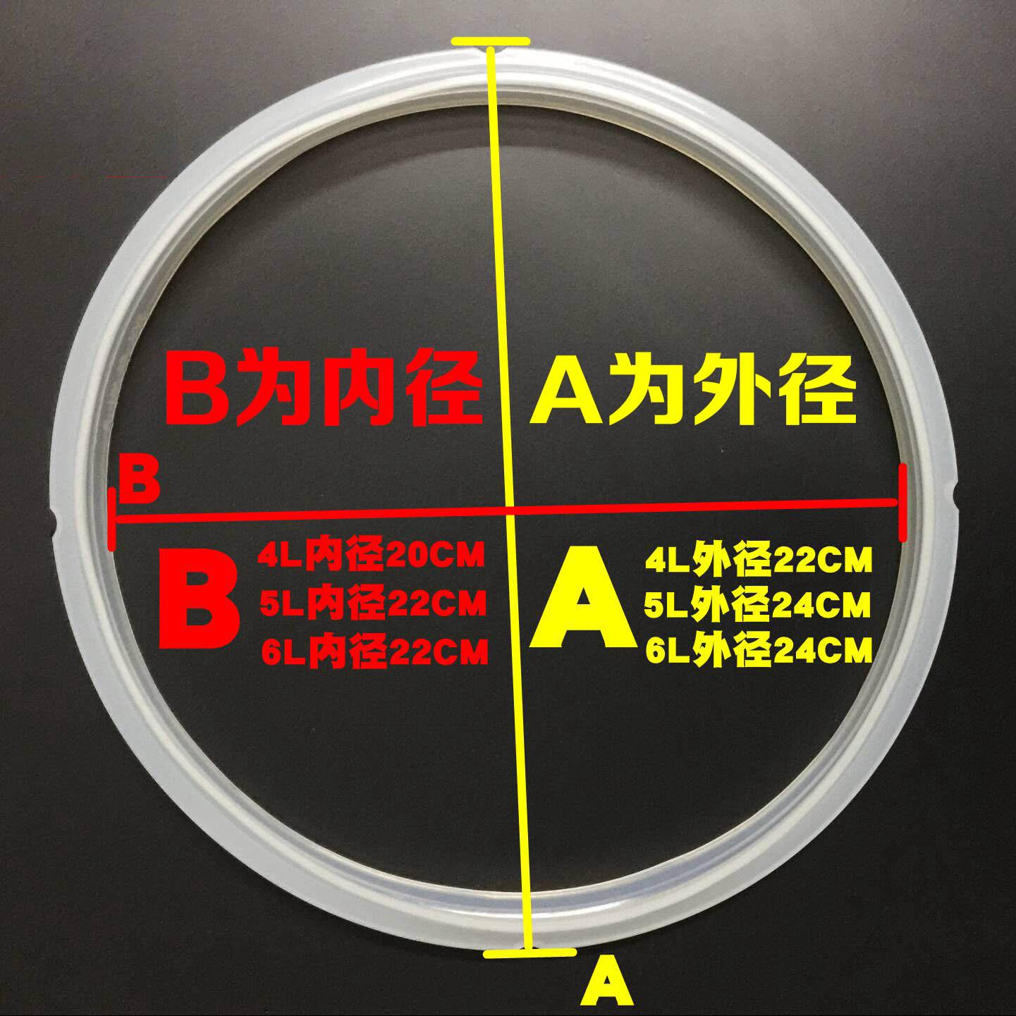 奔腾电压力锅密封圈4L 5L 6L升电高压煲胶圈硅胶锅盖皮圈电锅配件
