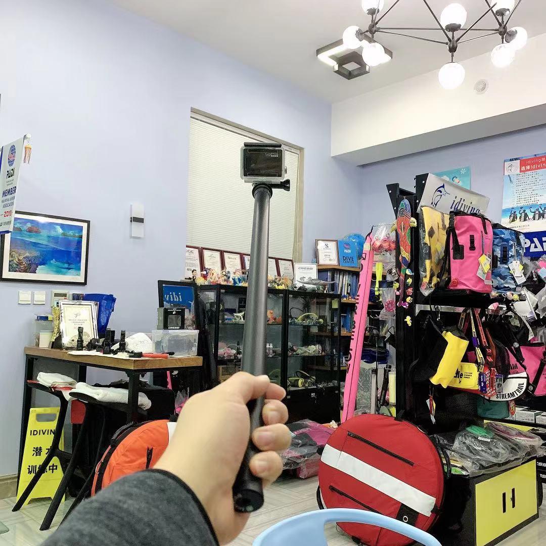全家运动相机延长伸缩杆 Insta360 小蚁 Gopro 米碳纤维自拍杆 3 超长