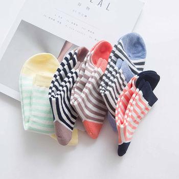 5双日系全棉中筒秋冬季韩国女袜子
