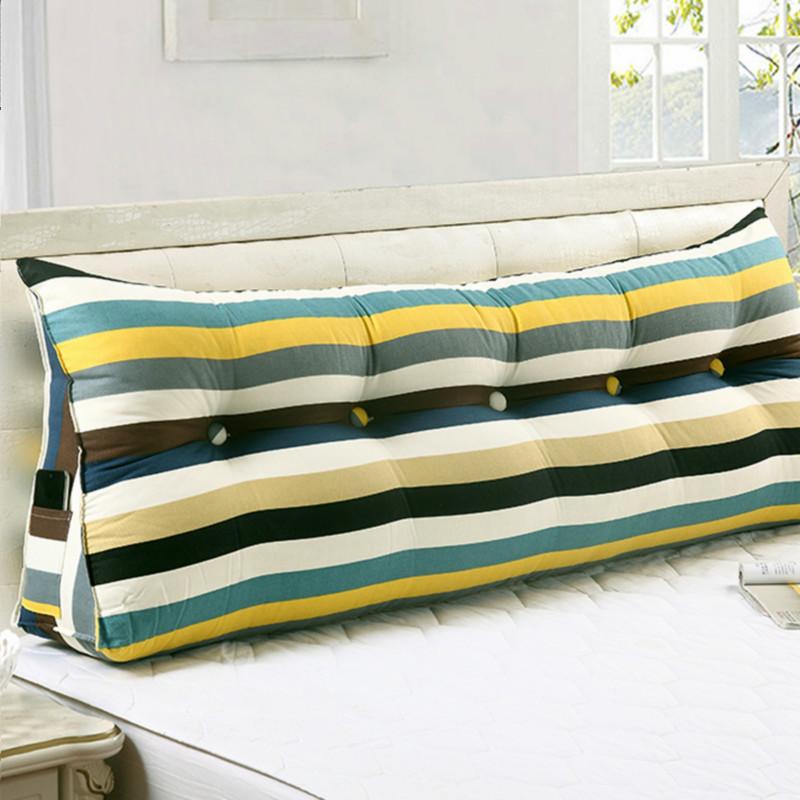 全棉帆布床頭三角大靠枕雙人情侶靠背榻榻米沙發靠墊大靠背