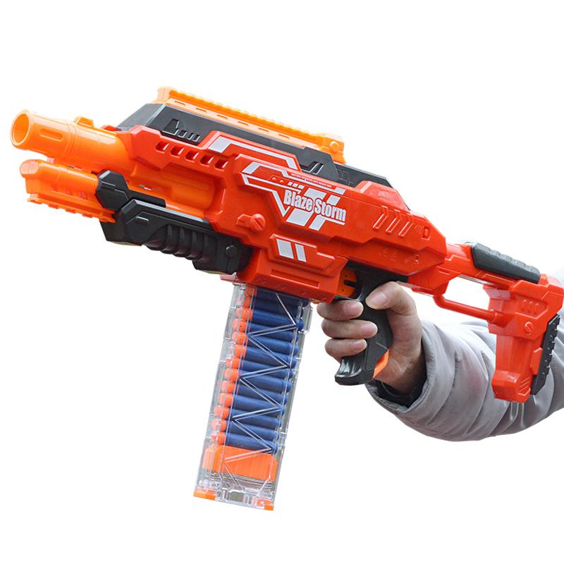 儿童电动玩具枪男孩软弹枪机关枪大容量弹仓3-4-6-7岁安全软子弹【图5】