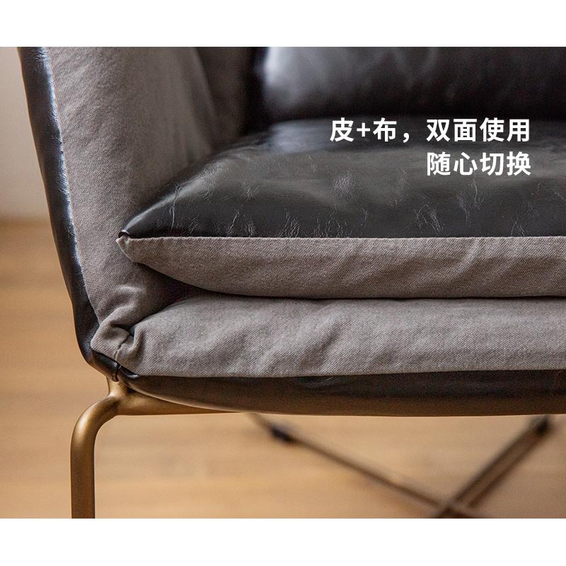 EVITAHOME美式loft铁艺沙发个性创意休闲布艺单人懒人沙发休息椅