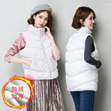 2019 autumn and winter horse armor down cotton women plus down to warm students horse clip cotton jacket women's cotton clothing bread wear vest