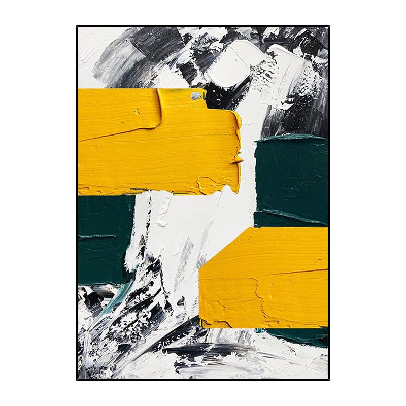 手绘抽象油画客厅现代简约灿烂千阳美式北欧大幅巨幅装饰画挂画