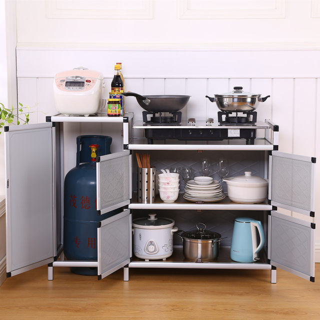 Gas Stove Cabinet Stove Shelf Kitchen Cabinet With Gas Tank Storage Cabinet Cabinet Simple Cupboard