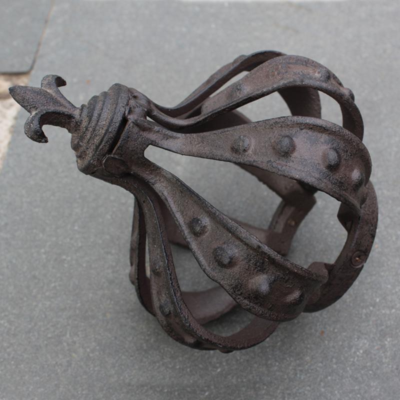 欧式铸铁工艺品经典花园庭院花架铁质皇冠摆件家居酒店会所装饰品