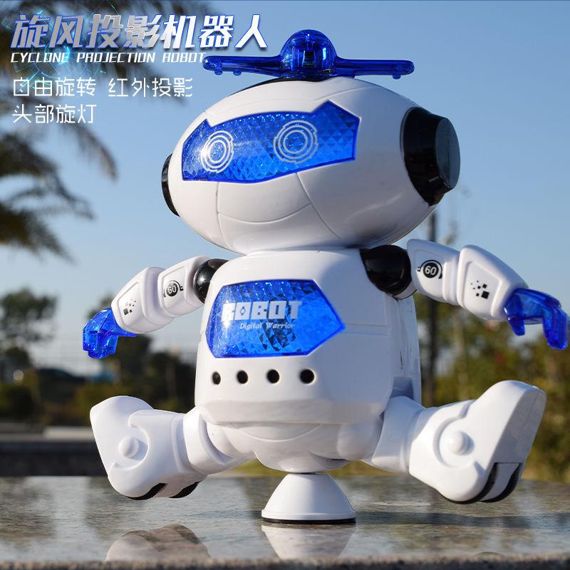 【充電版】太空跳舞機器人 兒童玩具 帶燈光音樂跳舞的電動機器人
