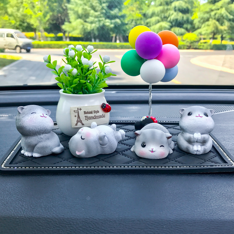 车载创意汽车摆件可爱男女个性小猫妮卡车载装饰车内饰品摆件高档