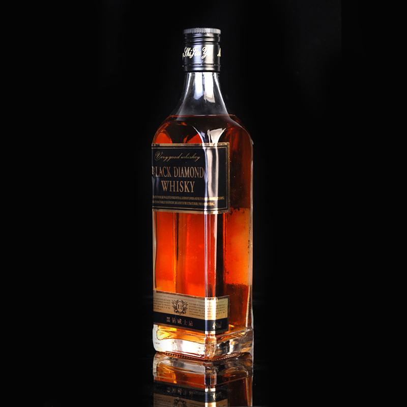 无赠品 450ml 黑钻威士忌 700ml 布伦多威士忌 瓶组合 2 洋酒
