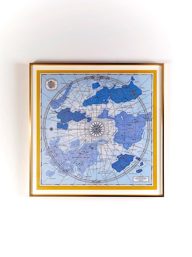 "H Fine Art 犀牛獨家!限定版""世界地圖""掛畫客廳玄關奢品裝飾畫"