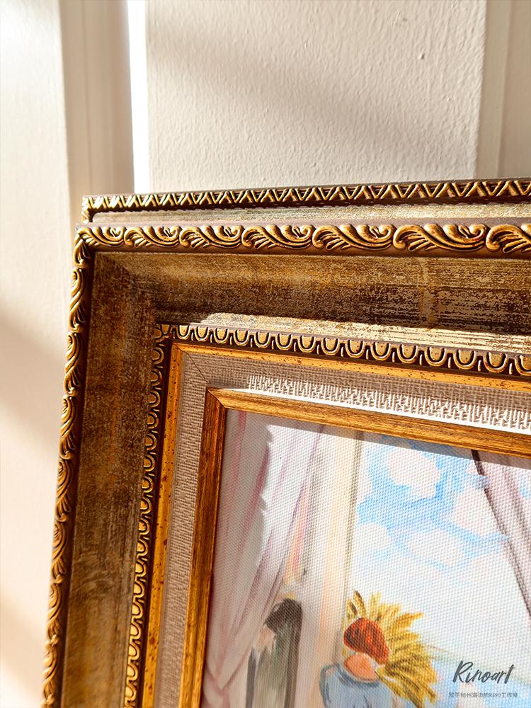 """犀牛艺廊Matisse""""淡蓝尼斯""""系列含框卧室书房宁静美式风格小画"""