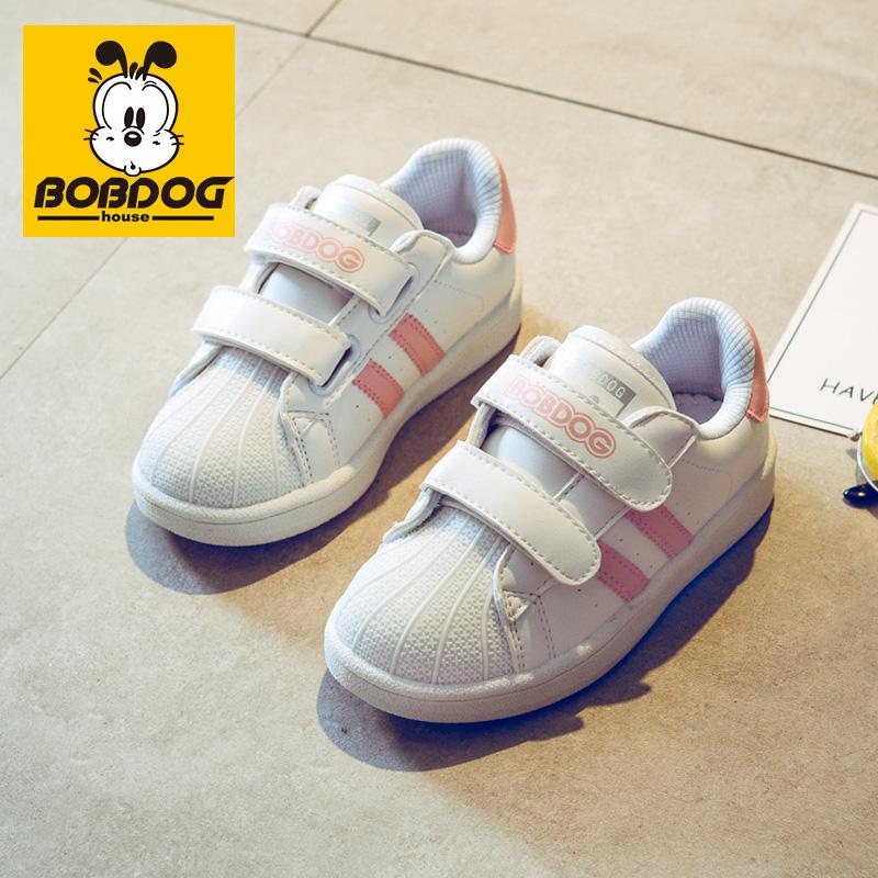 巴布豆house童鞋男童时尚小白鞋2019新款秋款 儿童运动鞋女童鞋子