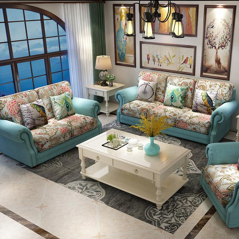 风格单双三人沙发组合