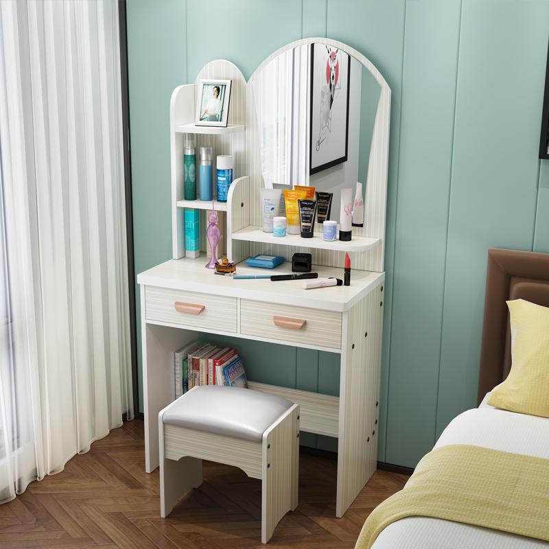 梳妆台经济型 迷你小户型简约现代卧室化妆桌 简易多功能收纳柜子