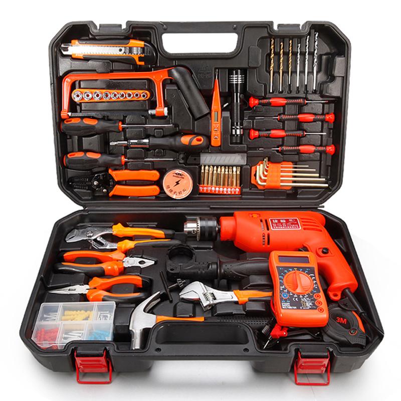 捷顺 家用五金工具套装 木工多功能五金工具箱电动工具组合