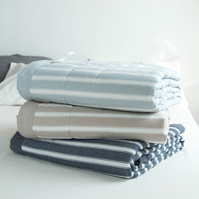 良品纯棉空调被四件套夏凉被儿童夏被单双人床单床笠款全棉三件套