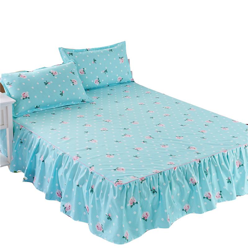 床罩床裙式床套单件席梦思床垫罩保护防滑防尘1.5m1.8米床单床笠