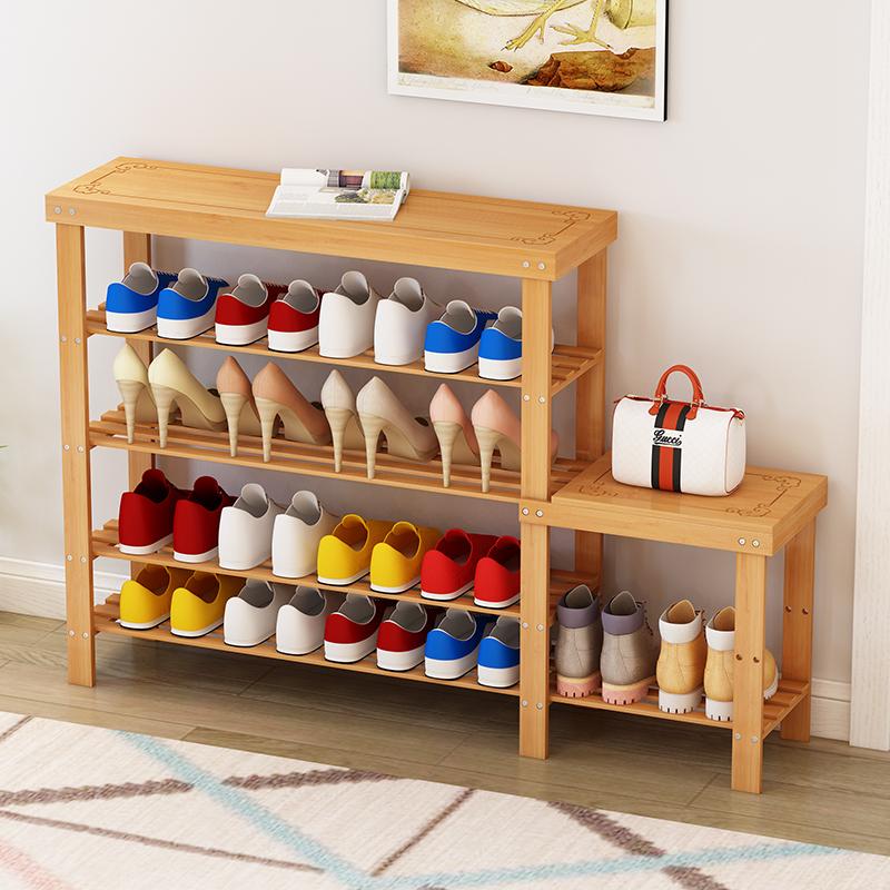 换鞋凳式鞋柜可坐穿鞋凳楠竹储物凳收纳现代简约换鞋登小凳子矮凳