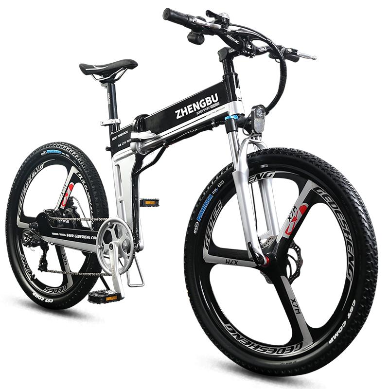 正步折叠电动车山地车自行车助力车锂电池电车成人迷你小型电瓶车