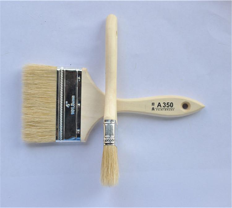 德瑞利猪毛刷不掉毛耐高温天然猪鬃毛刷清洁刷油扫毛刷油漆刷子